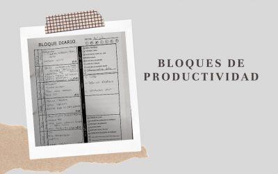 Productividad con bloques de horarios