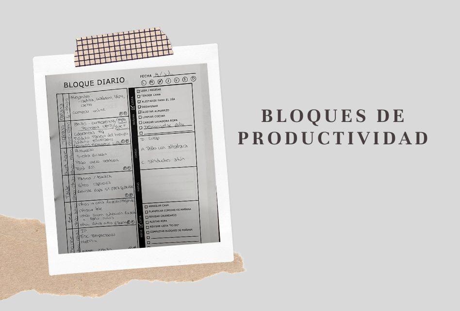 Bloques de productividad