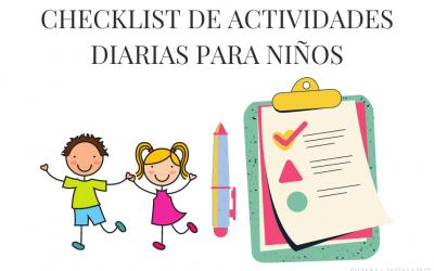 Checklist diario para niños
