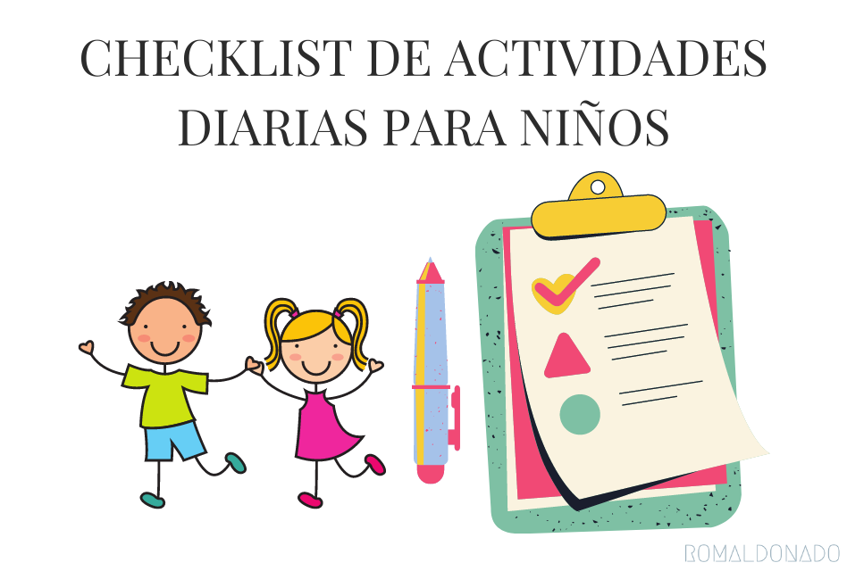 Checklist diario para niños - hábitos productivos