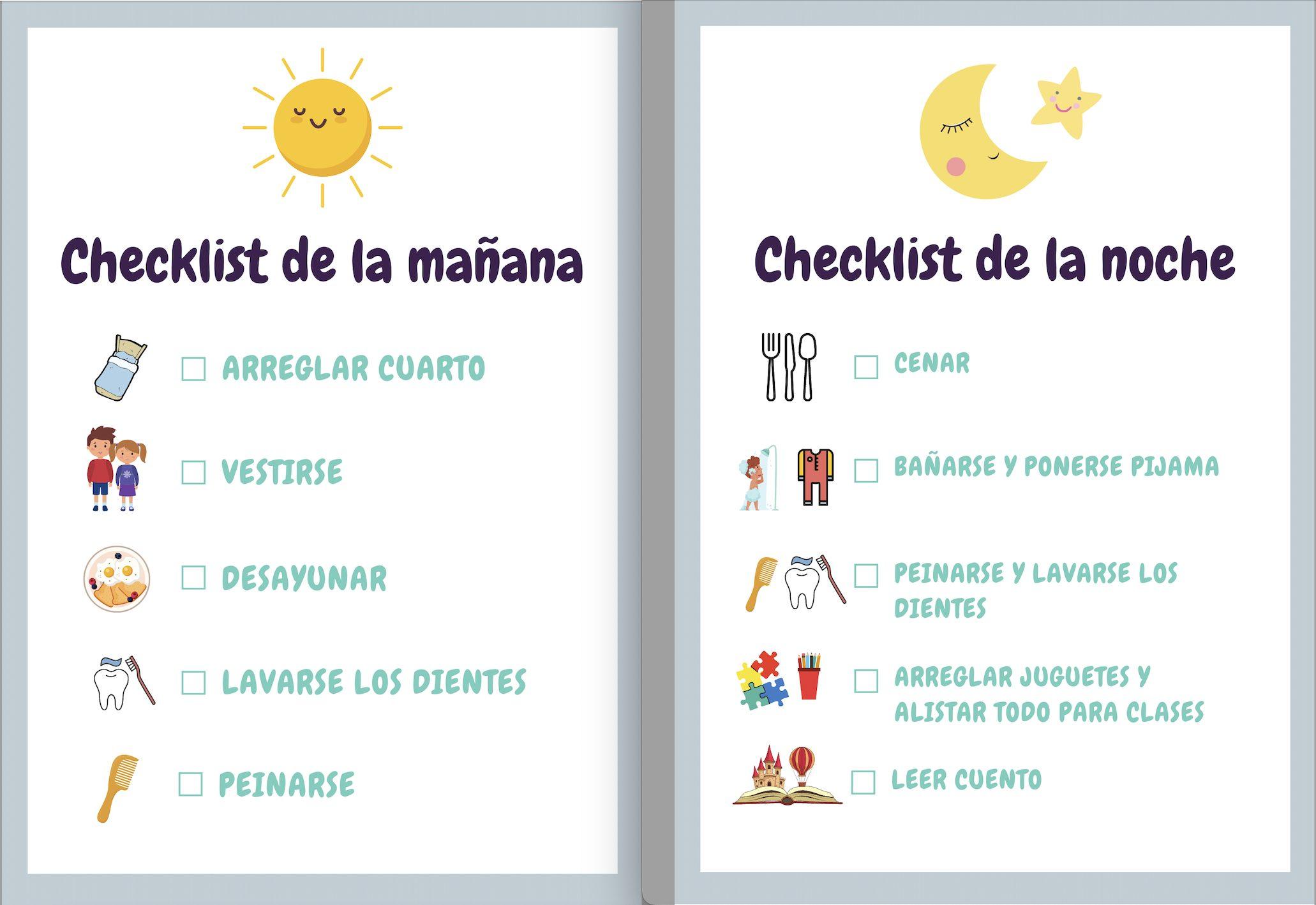 Checklist diario niños